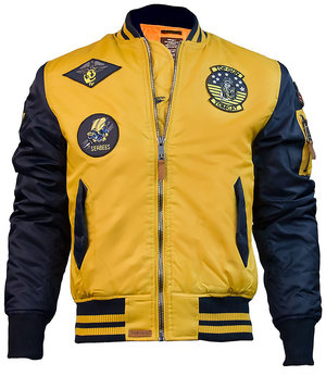 Бомбер Top Gun MA-1 Color Block Bomber Jacket (жовто-блакитний)