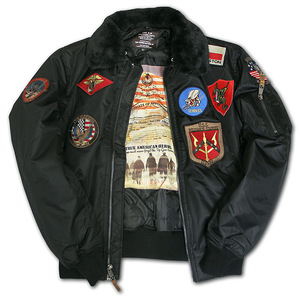 Бомбер Top Gun Official B-15 with Patches (чорний)